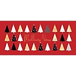 Carte de voeux 2021 avec enveloppes assorties Pano rouge sapins 20,5x9,5cm   5 Unités