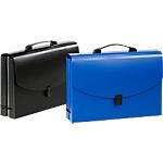 Valisette extensible Viquel Standard 8 intercalaires Noir, Bleu