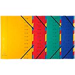 Trieur Exacompta Carte lustrée véritable A4 Coloris aléatoire