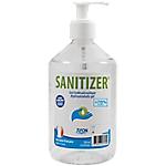 Gel hydroalcoolique SANITIZER 500 ml Transparent   6 Unités
