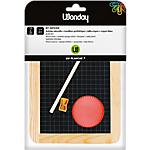 Ardoise + Mouilleur + Crayon + Taille crayon Wonday Assortiment