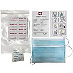 Set masques, gants et lingettes désinfectantes ELAMI Taille L   10 kits