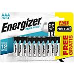 Piles alcalines Energizer Max Plus AAA   14 Unités