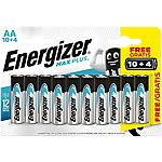 Piles alcalines Energizer Max Plus AA   14 Unités