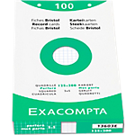 Fiches bristol Exacompta 125 x 200 mm Blanc Blanc   100 Unités