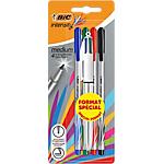 Feutres + stylo bille 4 couleurs BIC Moyenne Assortiment   5 Unités