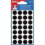 Étiquettes adhésives APLI Noir 6 Unités de 28 Étiquettes