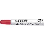Marqueur pour tableau blanc Niceday WBM2.5 Bille 2.5 mm Rouge