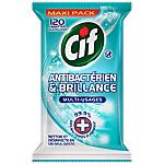 Lingettes multi usages Antibactérien et brillance Cif   120 Unités