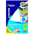 Étiquettes adhésives APLI Agipa Blanc 80 mm 16 Feuilles de 6 Étiquettes