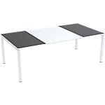 Table de réunion 4 pieds Paperflow EasyOffice Anthracite, blanc 2200 x 1140 x 750 mm