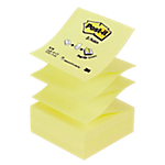Notes adhésives Post it 76 x 76 mm Jaune   12 Unités de 100 Feuilles