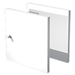 Lot de 2 portes Burocolor 16 x 322 mm Blanc