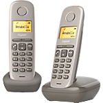 Téléphone Fixe Gigaset A170 Duo Sans fil Sans répondeur Taupe