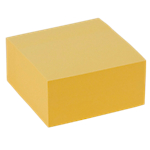 Cube de notes adhésives Office Depot 76 x 76 mm Jaune pastel   400 Feuilles