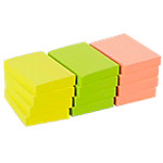 12 blocs de notes repositionnables   Office DEPOT   38 x 50 mm   coloris néon