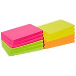 Notes adhésives Office Depot 127 x 76 mm Assortiment néon   12 Unités de 100 Feuilles