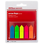 Marque pages Office Depot Arrows 1,2 x 10,5 x 4,5 cm Assortiment   125 Feuilles