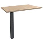 Extension de bureau 4 pieds Graphite Expert Imitation chêne, gris graphite 800 x 420 x 725 mm Hauteur pas Réglable