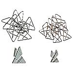 Attaches géantes ELAMI 5,3 x 4,7 cm Argenté   100 Unités