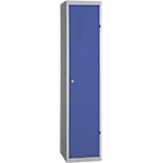 Vestiaire Industrie Salissante 1 colonne   Elément suivant 400 x 500 x 1800 mm Bleu