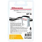 Cartouche jet d'encre Office Depot Compatible HP 10 Noir C4844A