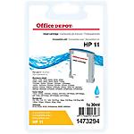 Cartouche jet d'encre Office Depot Compatible HP 11 Cyan C4836A