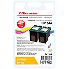 Cartouche jet d'encre Office Depot Compatible HP 344 Cyan, Magenta, Jaune C9505EE 2 Unités