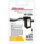 Cartouche jet d'encre Office Depot Compatible HP 350XL Noir CB336EE