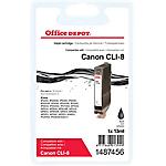 Cartouche jet d'encre Office Depot Compatible Canon CLI 8BK Noir