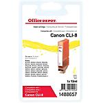 Cartouche jet d'encre Office Depot Compatible Canon CLI 8Y Jaune