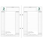 Recharge pour classeur perpétuel Exacompta Caisse 2020 1 Jour par page 16 x 24 cm Blanc