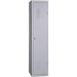 Vestiaire Industrie Salissante 1 colonne   Elément départ 400 x 500 x 1800 mm Gris