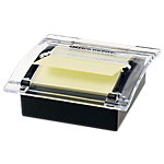 Dévidoir de Z notes Office Depot 76 x 76 mm Noir, transparent   100 Feuilles