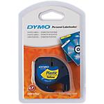 Ruban d'étiquettes DYMO Letratag 4m (l) Noir, jaune
