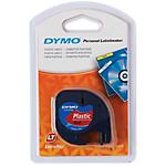 Ruban d'étiquettes DYMO Letratag 12mm (L) x 4m (l) Noir, rouge