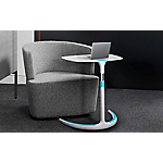 Support PC Portable MT International Mobility Blanc, turquoise 610 x 445 x 820 mm Hauteur Ajustable