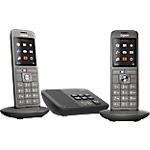 Téléphone Fixe Gigaset CL660A Duo Sans fil Avec répondeur Noir
