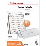Étiquettes Office Depot 1658732 Special format Blanc 64 x 33,9 mm 100 Feuilles de 24 Étiquettes