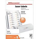 Étiquettes Office Depot Blanc 1400 étiquettes 100 feuilles de 14 étiquettes
