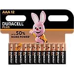 Piles alcalines Duracell PLUS Plus AAA   12 Unités