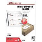 Étiquettes multifonctions Office Depot Coins droits 105 x 70 mm Blanc 105 x 70 mm 100 Feuilles de 8 Étiquettes