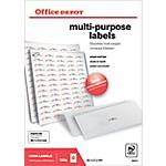 Étiquettes multifonctions Office Depot Coins arrondis Blanc 6500 étiquettes 100 feuilles de 65 étiquettes