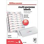 Étiquettes multifonctions Office Depot Coins droits 70 x 37 mm Blanc 70 x 37 mm 100 Feuilles de 24 Étiquettes