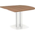 Table demi ovale d'extrémité Gautier Office Xenon 102 x 115 cm Imitation Merisier