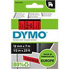 Ruban d'étiquettes DYMO D1 45017 12 mm x 7 m Noir, rouge