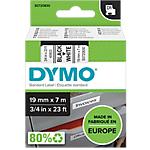Ruban d'étiquettes DYMO D1 45803 19 mm x 7 m Noir, blanc