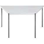 Table de réunion modulaire trapèze Domino 1200 x 600 x 740 mm Gris
