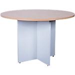 Table de réunion Elégance 760 mm Imitation hêtre