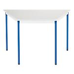 Table de réunion modulaire trapèze Domino 140 x 70 x 74 cm Gris